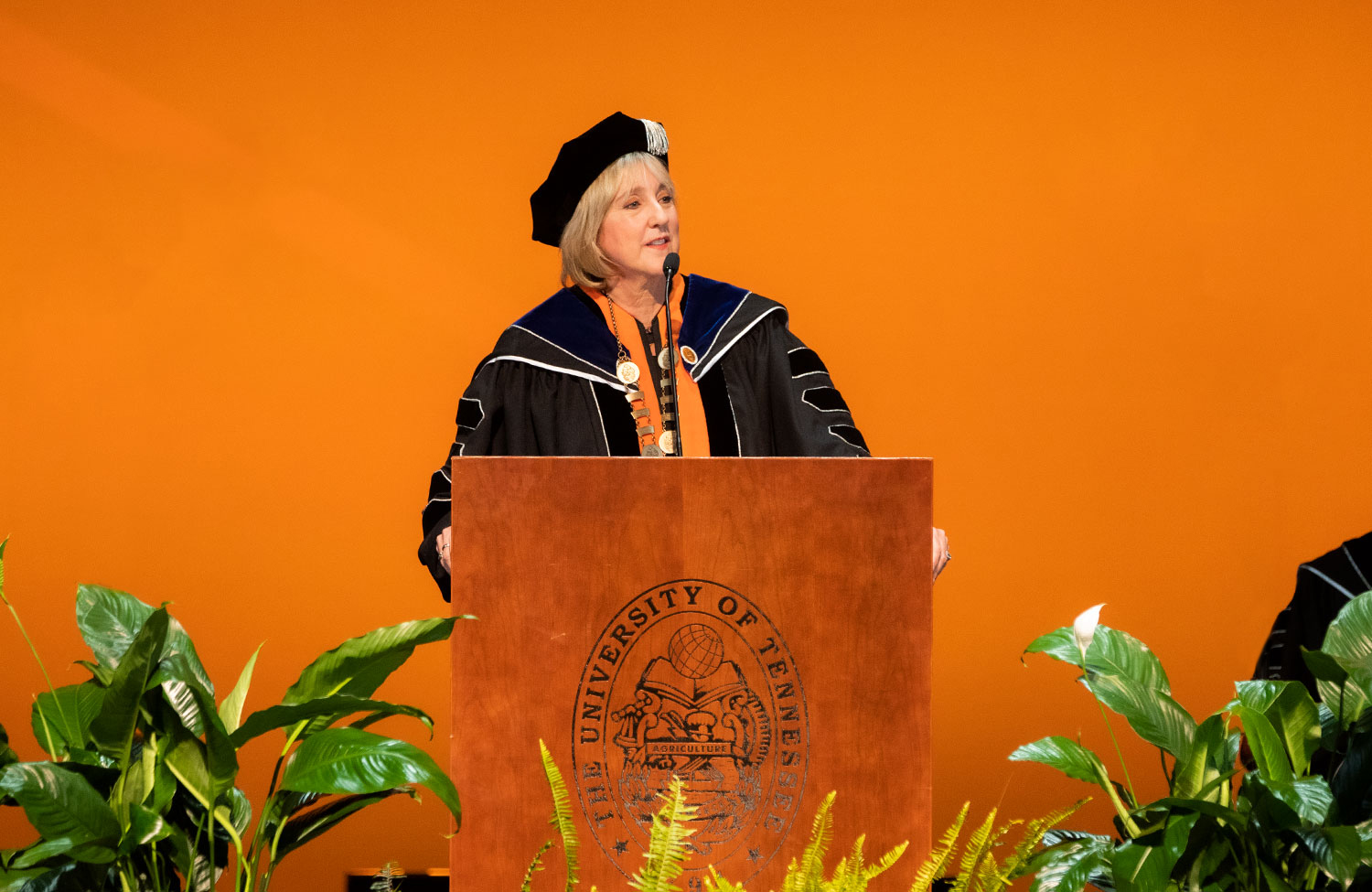 Chancellor Plowman at investiture