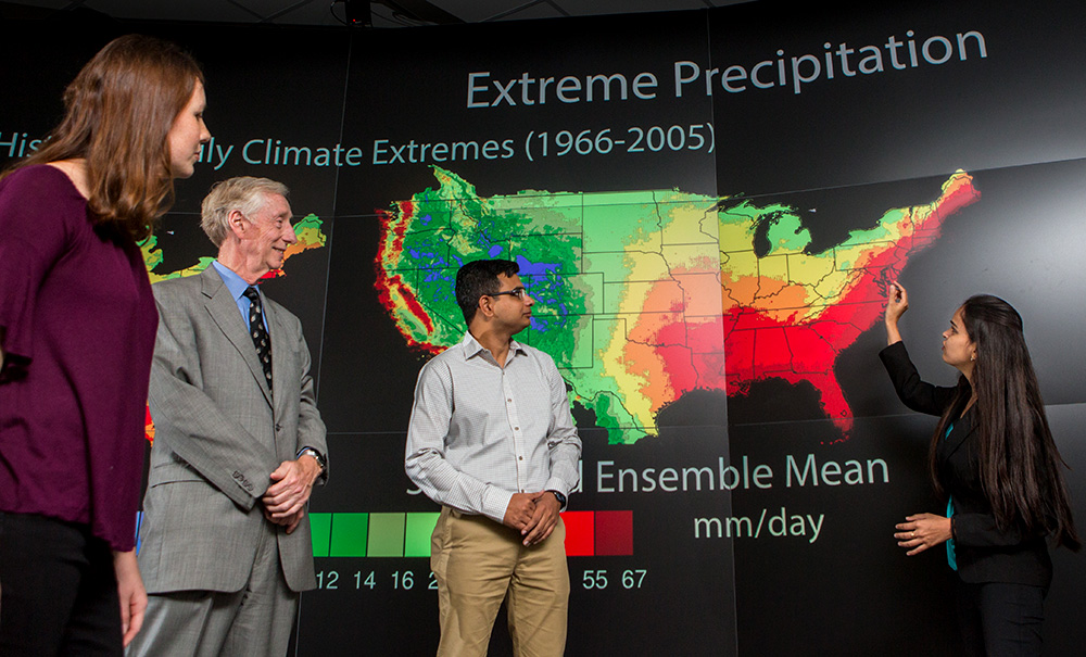 Deeksha Rastogi discusses her research at ORNL on the impacts of climate change on weather extremes and human settlements.
