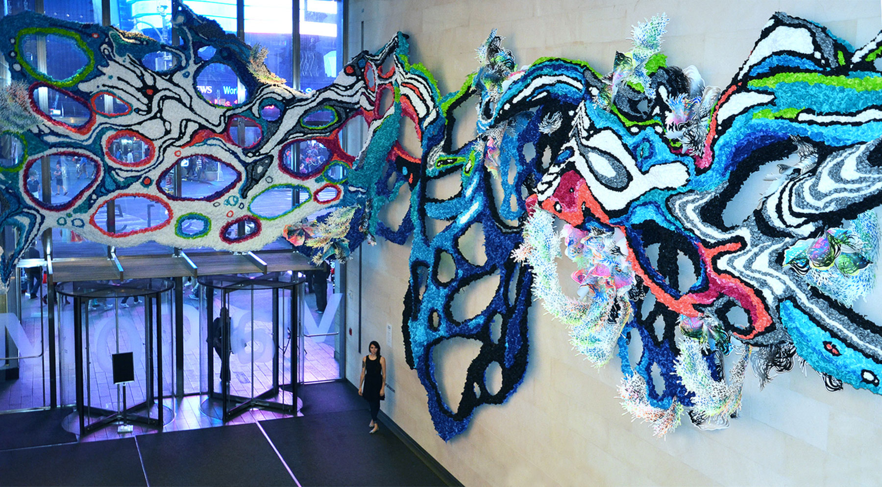 Viacom commissioned Crystal Wagner ('08) for a multipiece exhibit at its New York City headquarters in 2015
